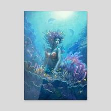 Coral - Acrylic by Yasu Matsuoka