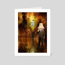 Lamp man - Art Card by Bruce Rolff