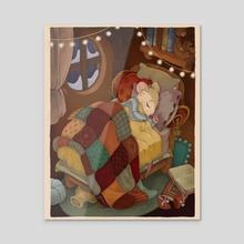 Sleep Well, Sweet Thing - Acrylic by Flore Allier-Estrada