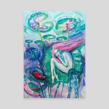 Underwater - Canvas by Nataliia Belozerova