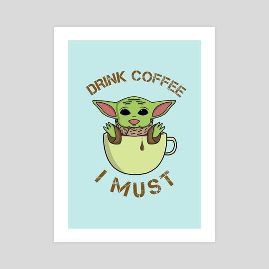 Baby Yoda Coffee by Vlad Stroe