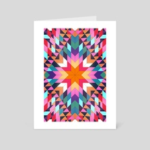 Triangles 2 abstract tribal pattern - Art Card by Mihalis Athanasopoulos