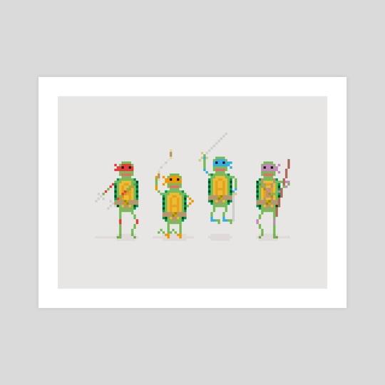Teenage Mutant Ninja Turtle Gang by Samantha Curcio