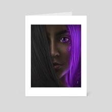 Aurora Violet - Art Card by Andy Art