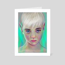 Elf  - Art Card by Katya Iwan