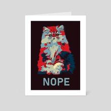 Cat Nope - Art Card by LemoBoy