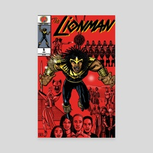The Lionman #1 - Canvas by Work of Art Studios