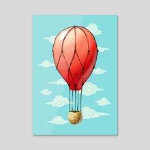 Hot Air Balloon - Acrylic by Indré Bankauskaité