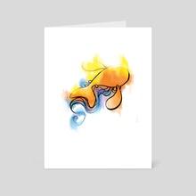 Rebirth of the Koi - Art Card by Mal Jones
