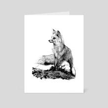 Ink Fox - Art Card by Bridgette McGee