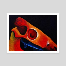 Dartmoor Pony Skull Abstract 5 - Canvas by Peter Andrew