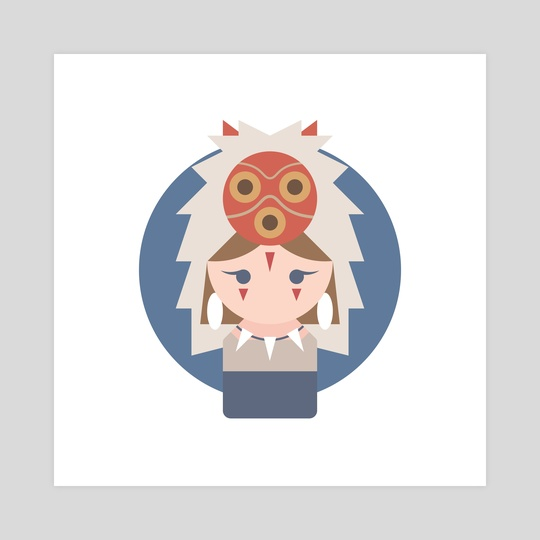 San (Princess Mononoke) by Shiny Pudding
