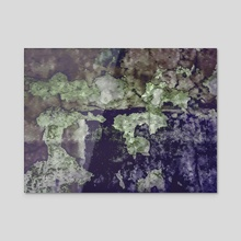 Grunge Camouflage Texture Print - Acrylic by Daniel Ferreira Leites