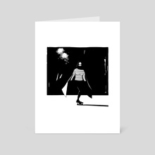 A Girl Walks Home Alone at Night - Art Card by SPH horror