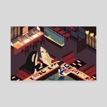 Isometric Sushi Night - Canvas by Britney Liu