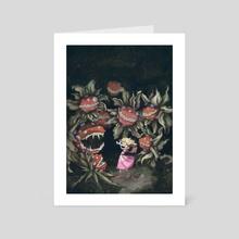 The Princess and the Piranha Plants - Art Card by allison j. sebastian