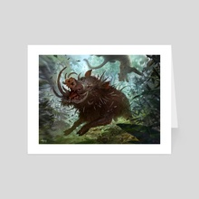 Bristling Boar - Art Card by Svetlin Velinov