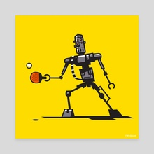 IG-88 Playing Ping Pong - Canvas by Chris Bishop