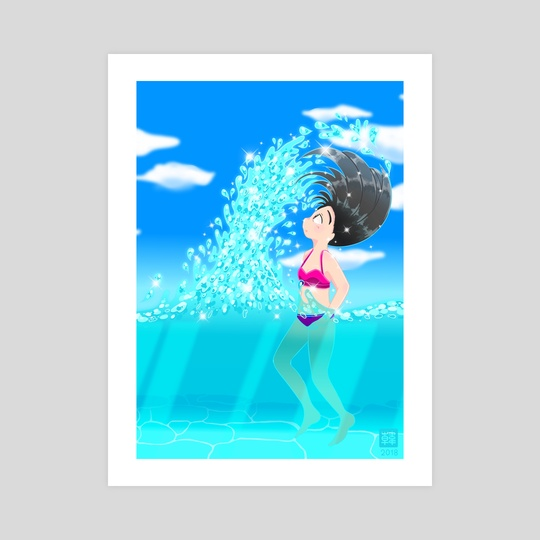 Beach Splash by Konayachi