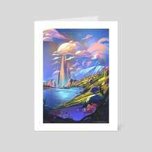 View of the Heights - Art Card by Gillian Galang