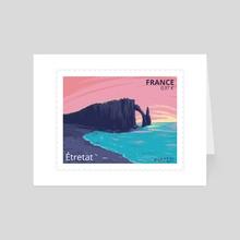 Étretat, France - Art Card by Birgitte Johnsen