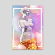 Venus de Milo - Acrylic by Daniel Mikołajczak