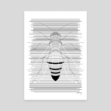 Manchester Bee - Canvas by Shiang  Chen
