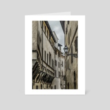 Houses at Historic Center of Florence, Italy - Art Card by Daniel Ferreira Leites