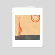 Sun Giraffe - Art Card by Sarah Kurpiel