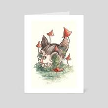 Dead cat - Art Card by Daria Doroshchuk