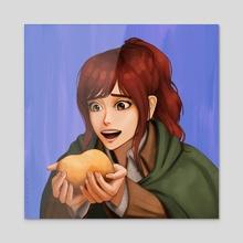 Potato Girl - Acrylic by Kyle Lee