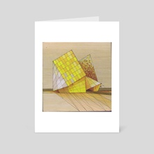 The Shape of Yellow - Art Card by Sarie Tardif