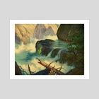 Up to Vernal Falls by V.P. Shkurkin - Art Print by Katya Shkurkin