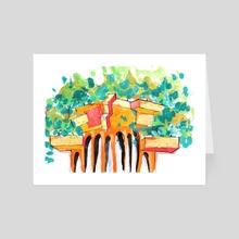 Dana Krystle_Architecture Skethcbook 12 _13 - Art Card by Dana Krystle