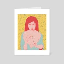 She loves me not - Art Card by Ana Maria Guarin