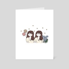 Sister - Art Card by A Little Something Studio