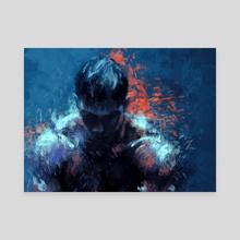 Warrior - Canvas by Aleksandra Lech