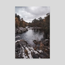 River in Scotland - Canvas by Monika Lis