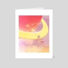 Slipped and Fell for ya - Art Card by Liz Lathem