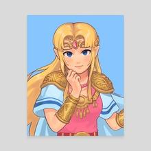 Super Smash Bros Ultimate: Zelda - Canvas by yoyoleif