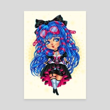 CyberGoth Chibi - Canvas by Maria Dimova
