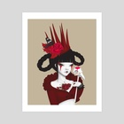 RED QUEEN - Art Print by Anne Martwijit