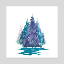 Winter Forest - Canvas by Carly A-F