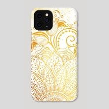 Mandala - Golden brush - Phone Case by Alexandre Ibáñez