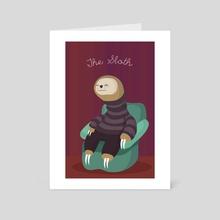 The Sloth - Art Card by Maria José Da Luz