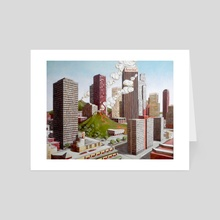 Volcano in Los Angeles - Art Card by federico cortese