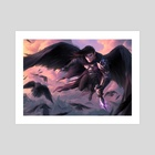 Champion of the Raven Queen - Art Print by Marcela Medeiros