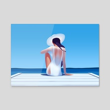 Catching the sun - Acrylic by Ksenia Shokorova