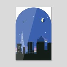 Night - Acrylic by Tanawin