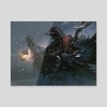 Icefeather Aven - Acrylic by Slawomir Maniak